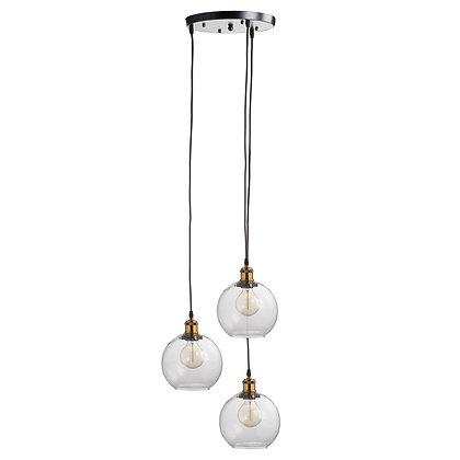 Triple Hanging Glass Globe Light