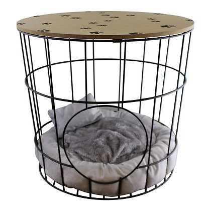 Side Table With Pet Bed