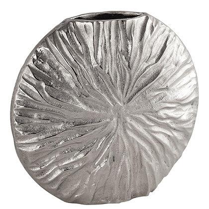 Farrah Cast silver Textured Medium Vase