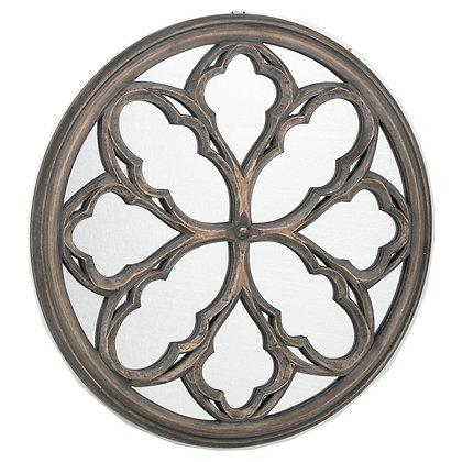 Circular Grey Wash  Avrey Mirror