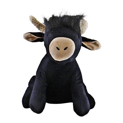 Highland Cow Doorstop, Black