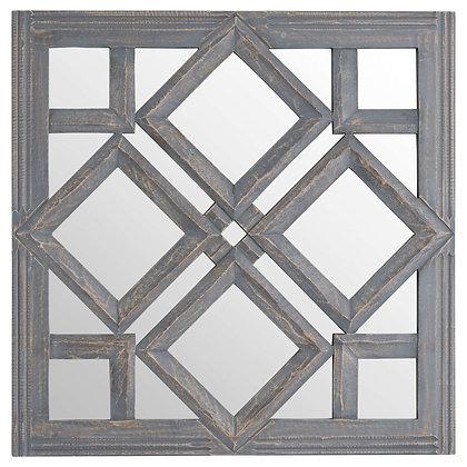 Geometric Diamond Cut Out Wall Mirror