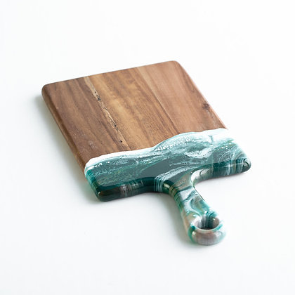 "Acacia Resin Cheeseboards Emerald Jewel Small 7""x14"""