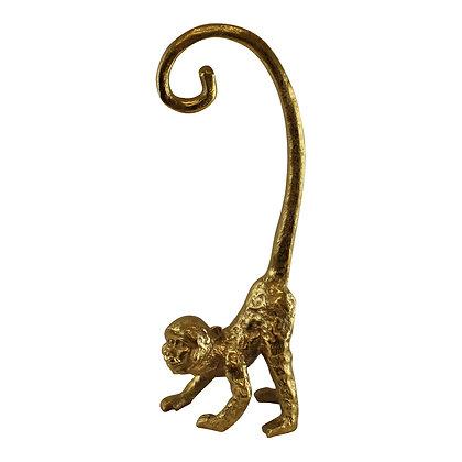 Large Gold Metal Monkey Banana Holder