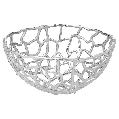 Ohlson Silver Perforated Coral inspired Bowl