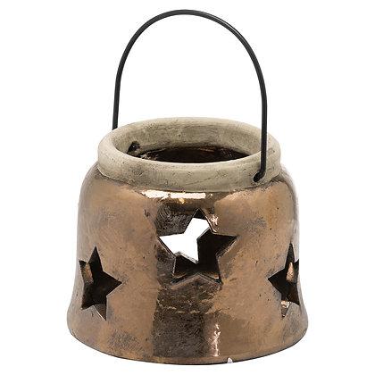 Evi Antique Bronze Small Star Lantern