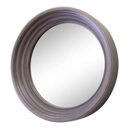 Small Round Grey Deep Edge Wall Mirror