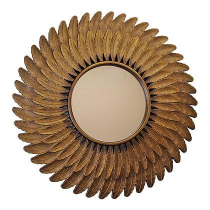 Bronze Effect Feather Frame Mirror