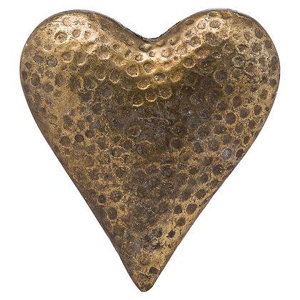 Evi Antique Bronze Large Heart