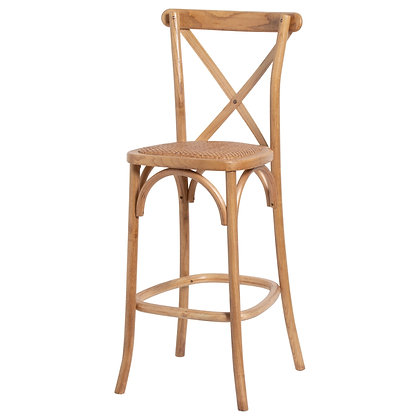 Light Oak Cross Back Dining Chair