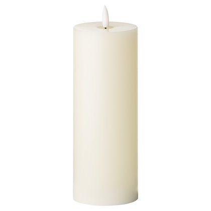 Luxe Collection Natural Glow 3 x 8 LED Ivory Candle