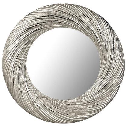 Farrah Cast silver Large Circular Mirror