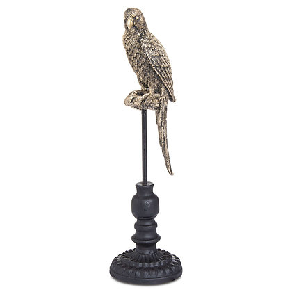 Antique Bronze Perching Miners Budgie