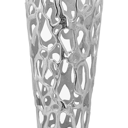 Ohlson Silver Large Perforated Coral Inspired Vase