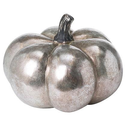 Large Squat Silver Foil Pumpkin
