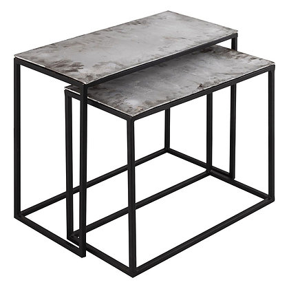 Cast silver set of Two Side Tables