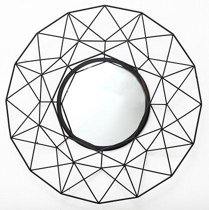 Geometric Mirror in Black 64cm