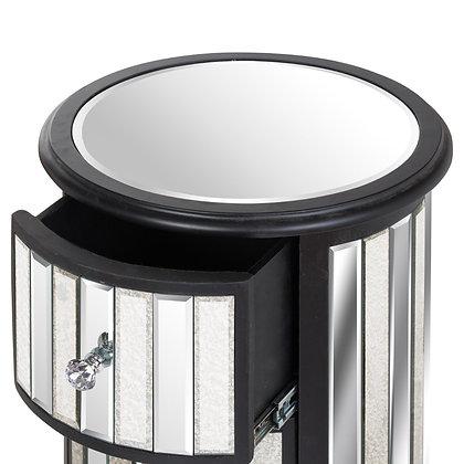 Soho Black Collection Circular 3 Drawer Unit
