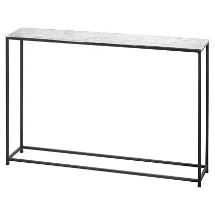 Cast Silver Console Table