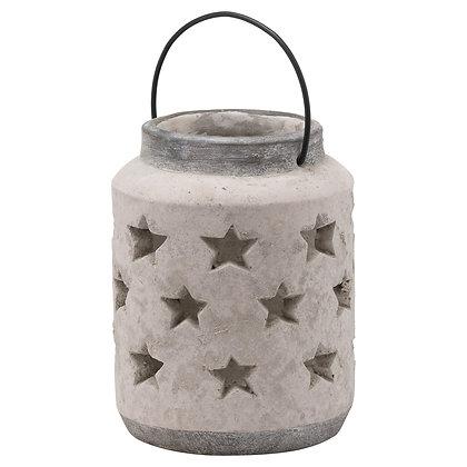 Bloomville Large Stone Star Lantern