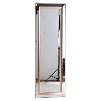 Grand Pilton Mirror With Brass Inlay
