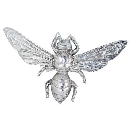 Antique Silver Bumble Bee Decorative Clip