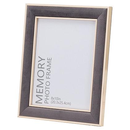 Grey Velvet With Gold 8X10 Frame
