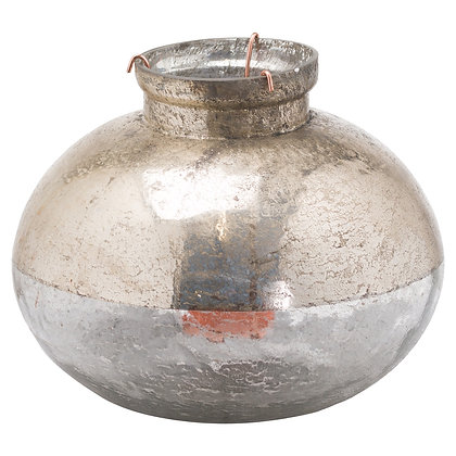 Large Silverlust Bulbus Candle Holder