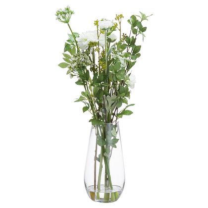 Large Peony Arrangement In Glass Vase