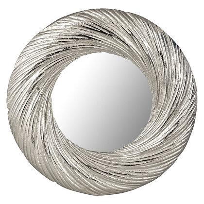 Farrah Cast Silver Circular Mirror