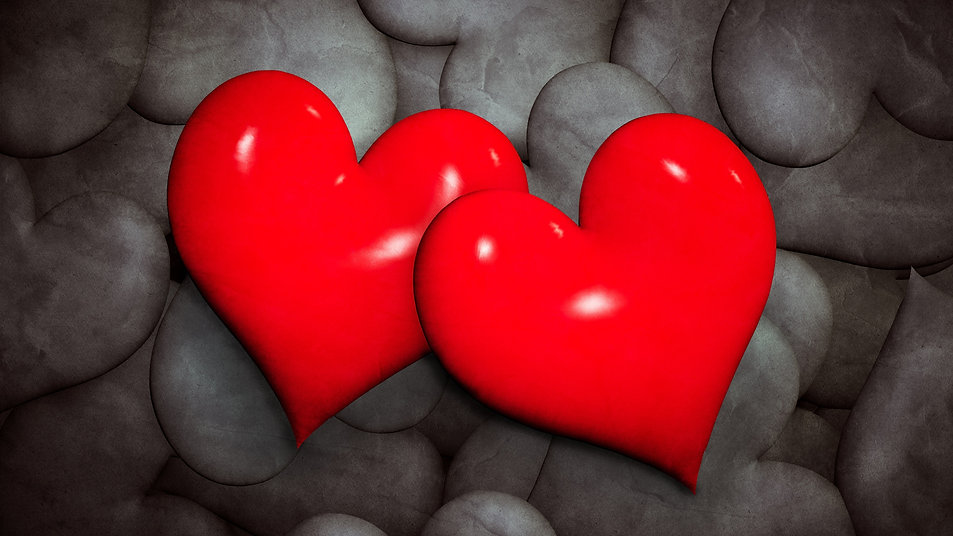 Two-red-love-hearts-black-background_384