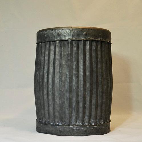Übertopf Metall grau