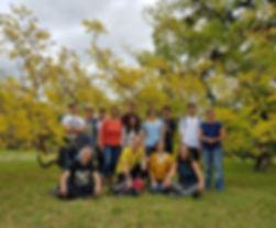 Gruppenfoto Firmenausflug, Schlosspark Lednice