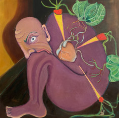 """Selbstversorger/Self Sufficient. Oil on Wood. 24"""" x 24"""". 2021"""