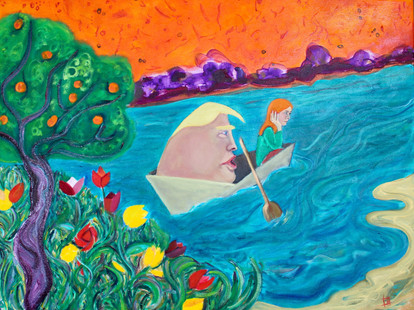 Lucy In The Boat with Humpty Tumpty