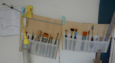 les pinceaux et petits outils