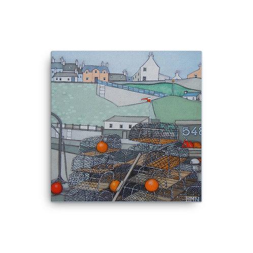 Canvas Print: Creels at Crail