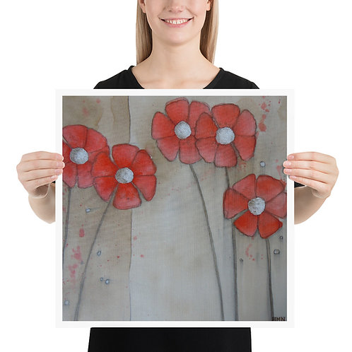 Print: Red Daisies