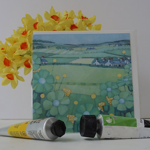 """Art Card of """"Galloway Steading"""""""