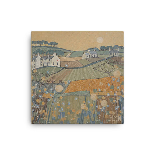 Canvas Print: Sunset over the Fields