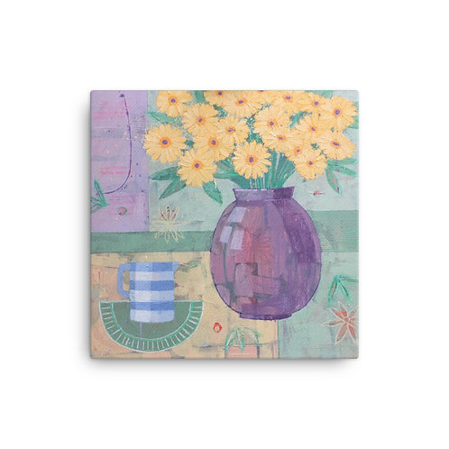 Canvas Print: Yellow and Blue