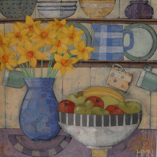 Daffodils in the Kitchen - SOLD