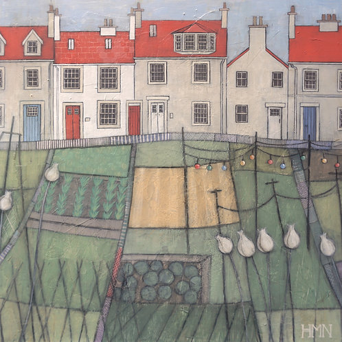 Allotment Fairy Lights - currently available at Zenwalls Gallery, Peebles