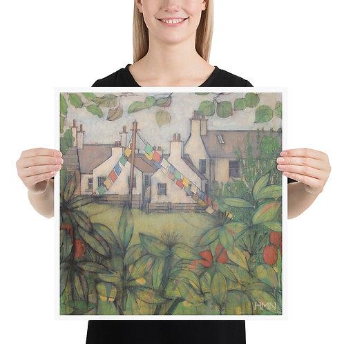 Print: High St. Gardens, Kirkcudbright