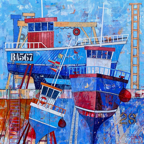 Blues in the Boatyard - currently available at The Whitehouse Gallery DG6 4DU