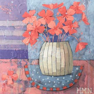Red peonies in a vase
