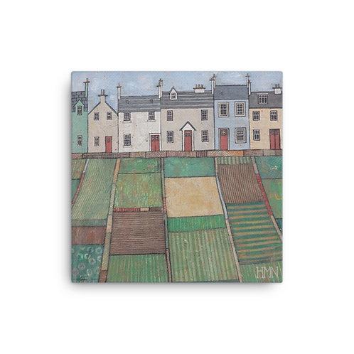 Canvas Print: Allotment Terrace