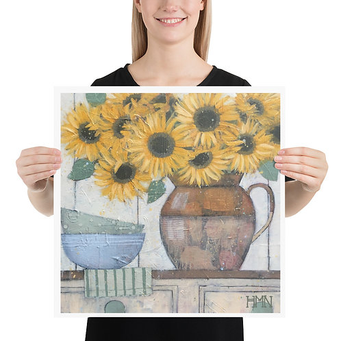Print: Sunflowers in the Kitchen