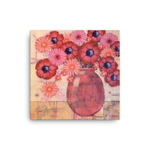 Canvas Print: Red Anemones