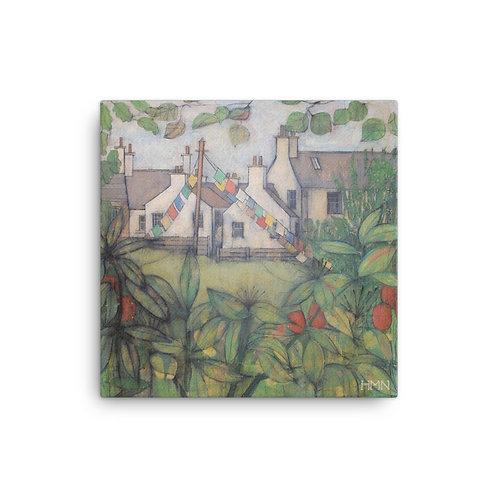 Canvas Print: High St. Gardens, Kirkcudbright